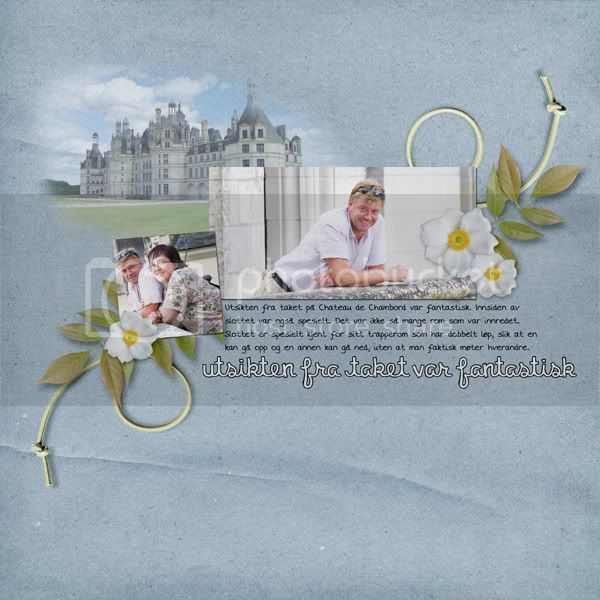 My finished digital scrapbook layout