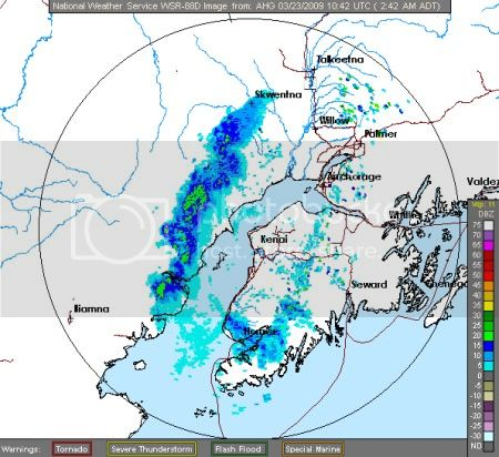 National Weather Service radar from Kenai, AK: