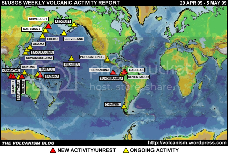 SI/USGS Weekly Volcanic Activity Report 29 April 2009 - 5 May 2009
