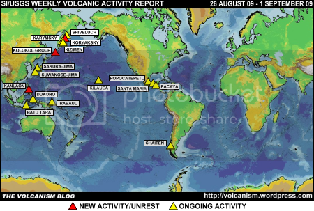 SI/USGS Weekly Volcanic Activity Report 26 August-1 September 2009