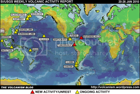 SI/USGS Weekly Volcanic Activity Report 20-26 January 2010