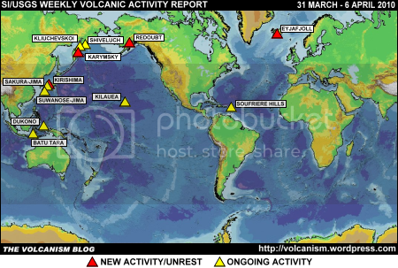 SI/USGS Weekly Volcanic Activity Report 31 March - 6 April 2010