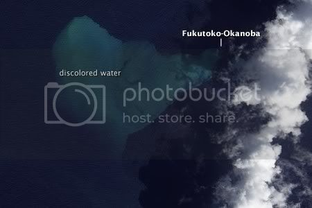 Submarine Volcano Fukutoku-Okanoba Erupts (NASA EO-1 image, 11 February 2010)