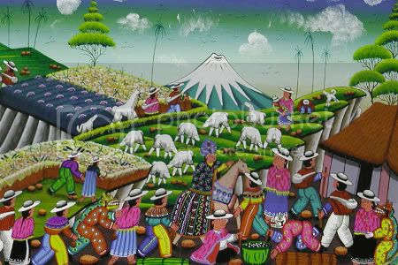 Tigua painting from Ecuador